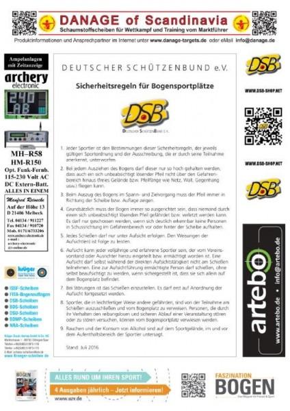 Schießstandordnung für Bogenschießplätze