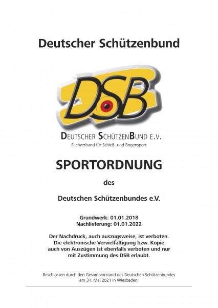 Ergänzung zur Sportordnung - Stand 01.01.2022