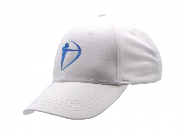 Basecap - Bogen - weiß/türkis