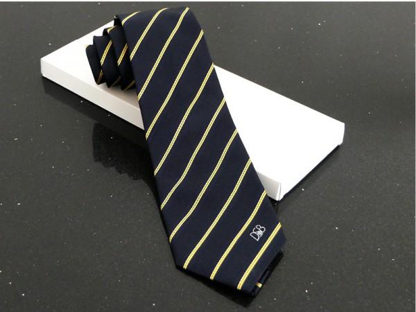 Blau-Gelb gestreifte Krawatte