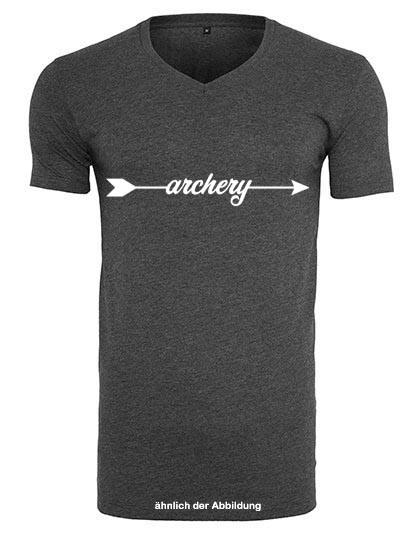 T- Shirt ARCHERY - V-Ausschnitt