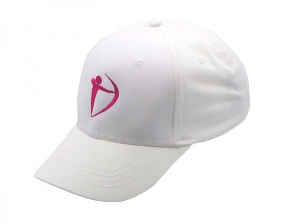 Basecap - Bogen in Weiß/Pink