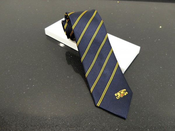 Blau gestreifte Krawatte