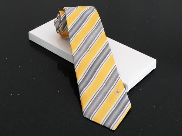Grau-Gelb gestreifte Krawatte